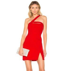 NWT BCBGMaxazria Red Dayne One Shoulder Dress